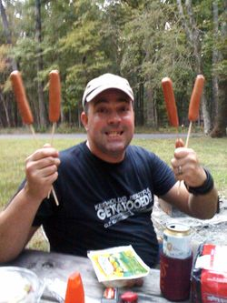 The Hot Dog King goes on vacation