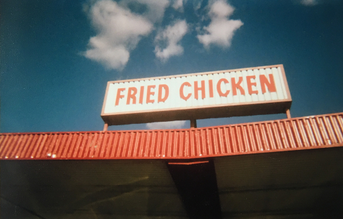 Fried chicken sign